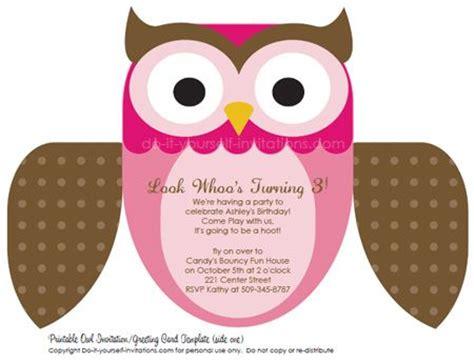 owl templates for invitations free editable owl invitation template multiple color