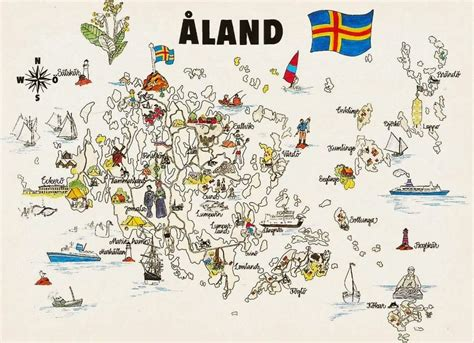 aland islands map postcards on my wall map of 197 land islands