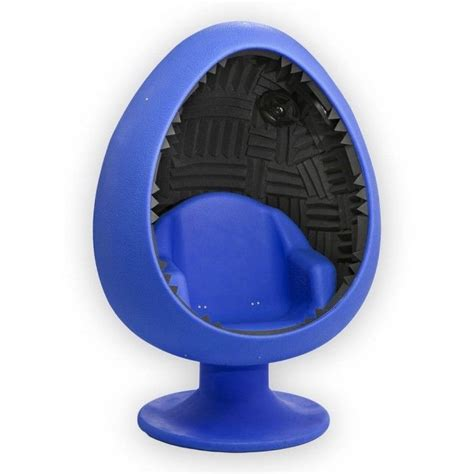 blue sound egg chair gray foam