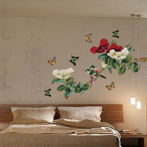 blooms bird butterfly decorative diy removable wall