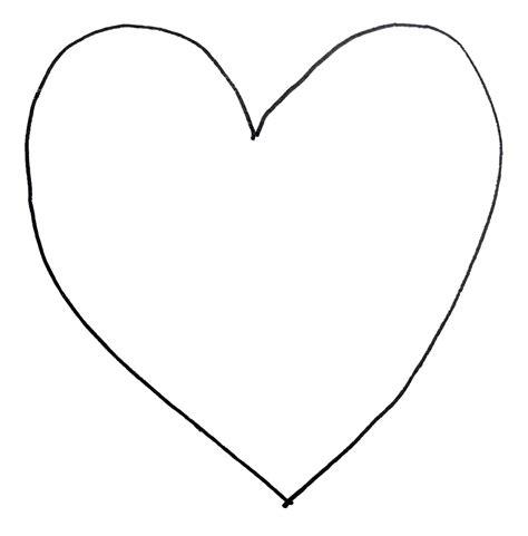 printable heart shape template clipart best