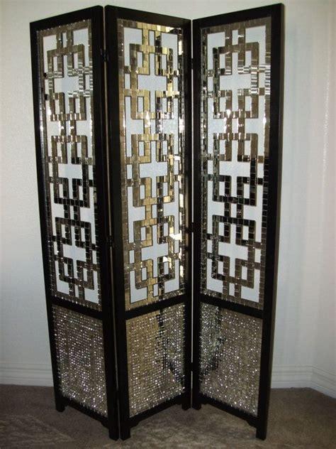 mirror room divider screen zenovia mirror mosaic screen room divider 47 1 2 quot w x