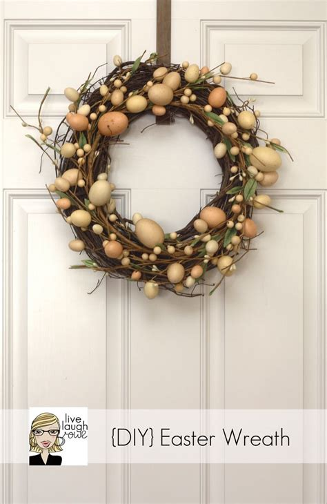 how to make a spring wreath diy easter wreath