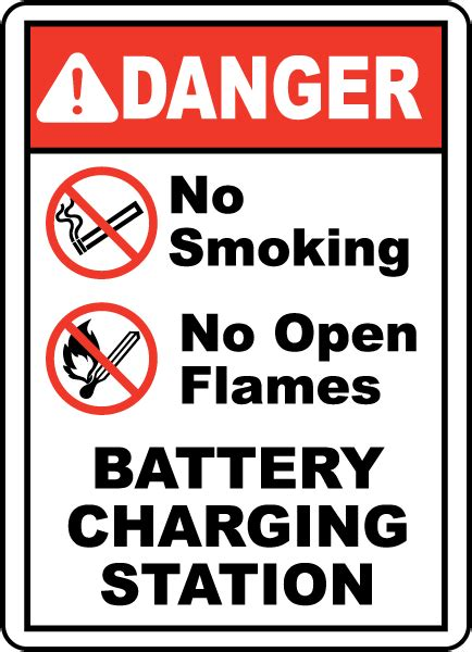 no smoking sign leed battery charging no smoking sign e4621 by safetysign com