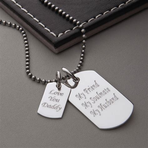 tag necklace chain s sterling silver tag necklace by