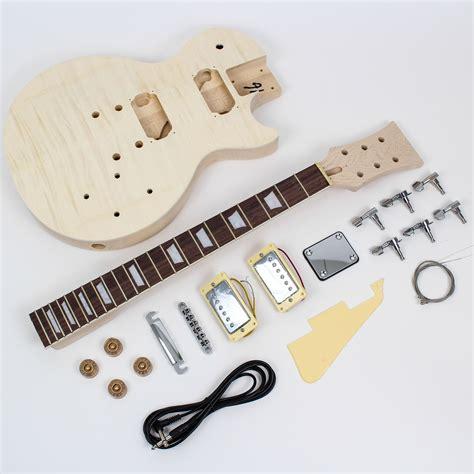 diy guitar kit les paul style guitar kit maple diy guitars