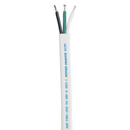 10 3 triplex flat cable wire black green white 100