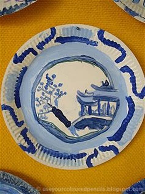 willow pattern lesson ideas use your coloured pencils willow pattern paper plates