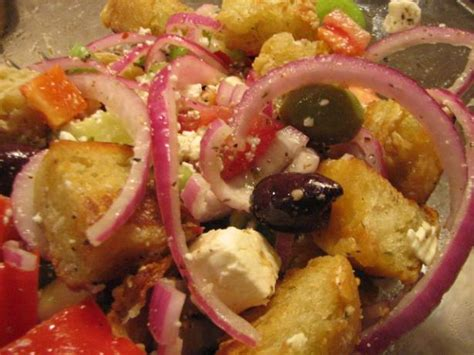 ina garten greek salad barefoot contessas greek panzanella recipe food com