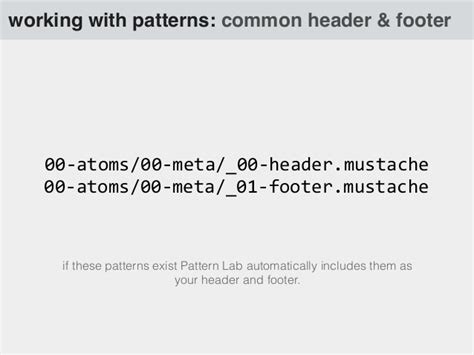 moustache pattern lab the why and what of pattern lab
