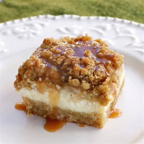 caramel apple cheesecake bars with streusel topping real good recipes caramel apple cheesecake bars with