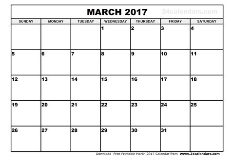 printable monthly calendar march march 2017 calendar template weekly calendar template