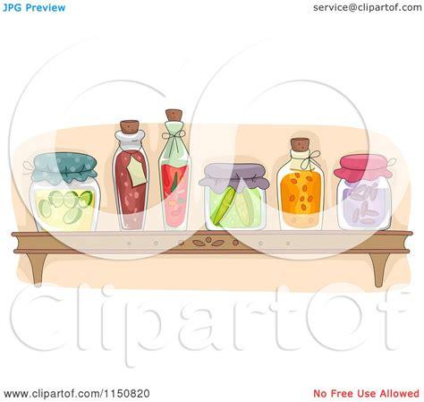 cartoon   shelf  preserved foods   pantry