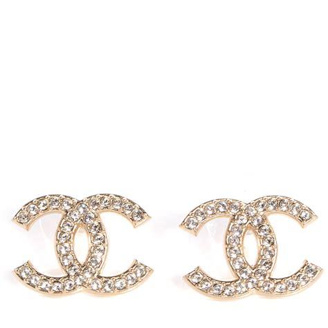 chanel cc earrings gold 75799