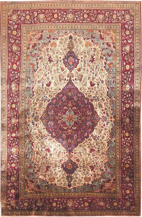 silk rug antique silk kashan rugs 3242 for sale antiques