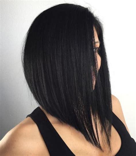 long hair cut at an angle on sides 40 chic angled bob haircuts