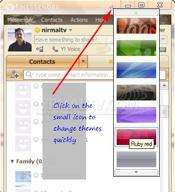 theme definition yahoo how to quickly change themes in yahoo messenger 11