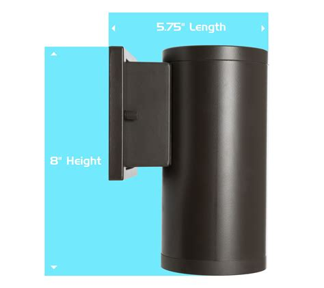 led cylinder light fixture westgate led outdoor cylinder light up wall sconce