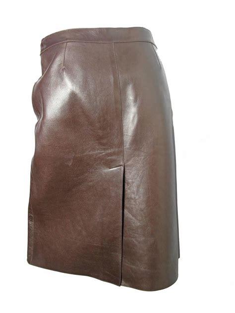 brown leather skirt prada brown leather skirt for sale at 1stdibs