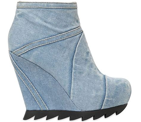 Boots Wedges Denim freak shoe friday camilla skovgaard washed denim wedge