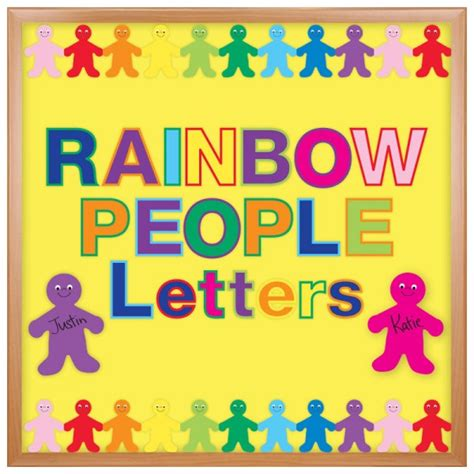 cut out bulletin board letters in rainbow colors hygloss