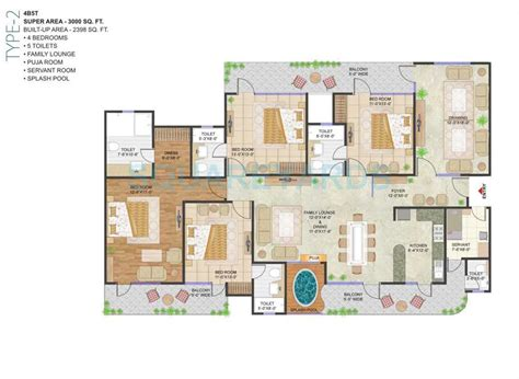 3000 sq ft apartment floor plan 4 bhk 3000 sq ft apartment for sale in prateek stylome