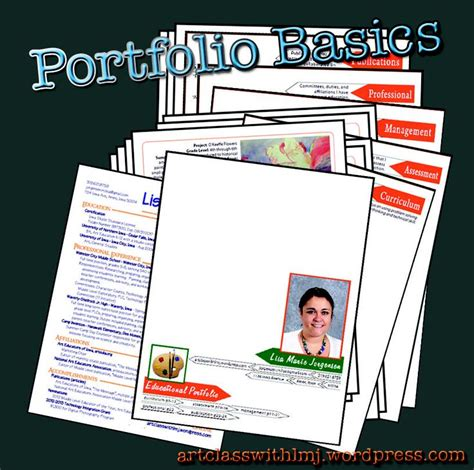Educational Portfolio Template teaching portfolio template teaching