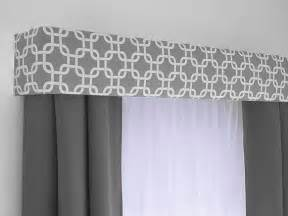 Curtain Box Valance Inspiration Gray Geometric Cornice Board Valance Window Treatment Custom Curtain Topper In Modern Grey And