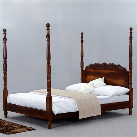 queen four poster bed introducing new solid wood bed collection at sierra living concepts sierra living