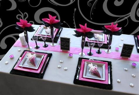 Deco Table Fushia Et Noir by D 233 Co De Table P 233 Tillante Pour Le Nouvel An D 233 Co