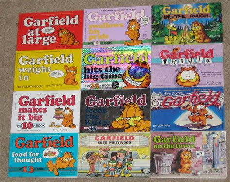 garfield feeds the his 35th book books garfield the cat paperback book comics lot soft cover odie
