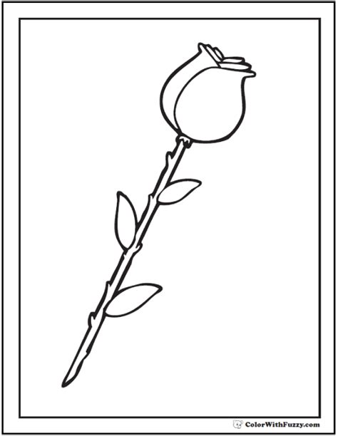 coloring page flower bud 73 rose coloring pages customize pdf printables