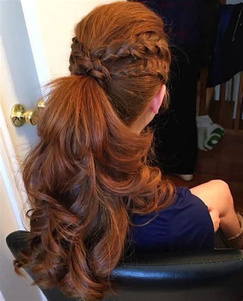 eye catching ways  style curly  wavy ponytails