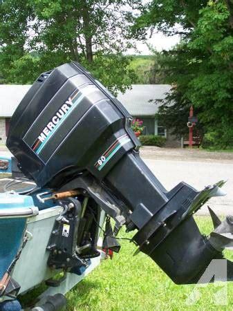 used outboard motors new york 90hp mercury outboard motor plus trolling motor for sale