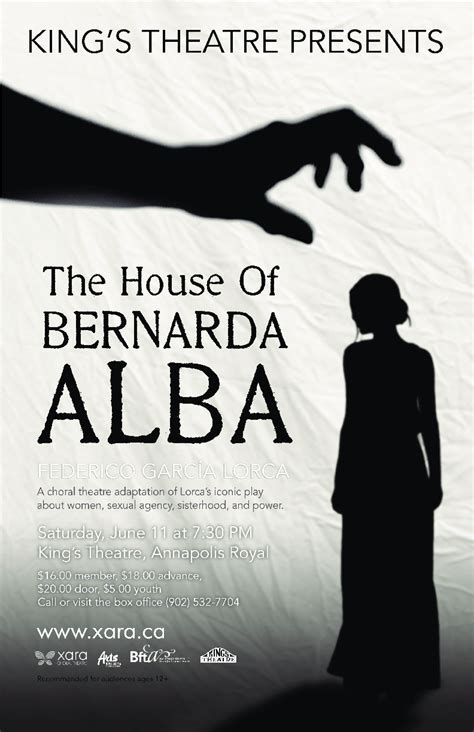 the house of bernada the house of bernarda alba at kings theatre annapolis royal june 11 2016 7 30pm