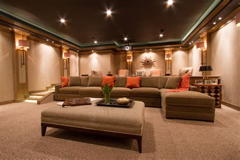 family room sofas family room sofas home theater contemporary with brown
