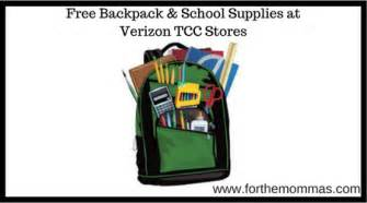 Free Backpack Giveaway 2017 - free backpack school supplies at verizon tcc stores ftm