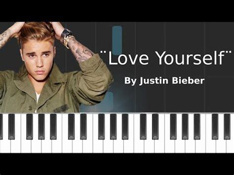 tutorial keyboard love yourself justin bieber love yourself piano tutorial chords
