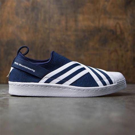 Adidas Slip On Moksalin Navy adidas white mountaineering superstar slip on primeknit navy collegiate navy footwear white