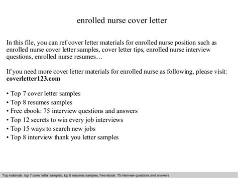 cover letter for enrolled enrolled cover letter