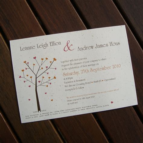Wedding Invitations Seeded Paper by Seeded Paper Wedding Invitations Flamingo