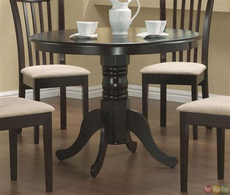 5 piece dining room set 5 piece casual microfiber fabric round dining room set