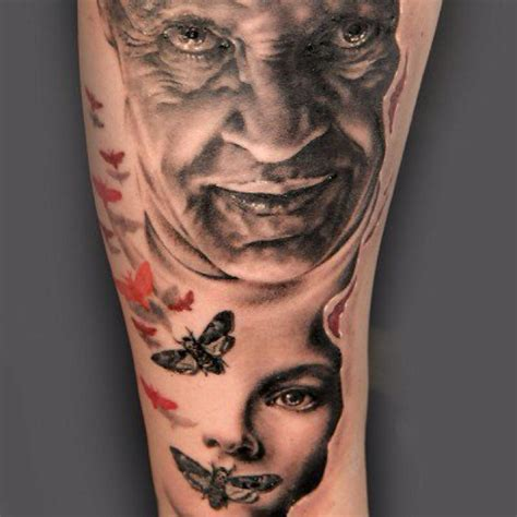 silence of the lambs moth tattoo silence of the lambs horror tattoos