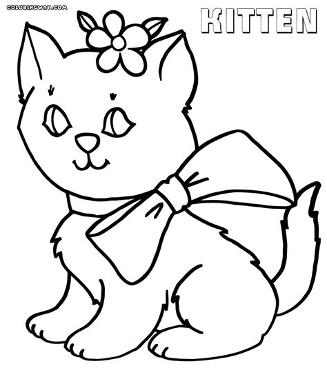coloring pages of cute kittens kitten coloring pages coloring pages to download and print