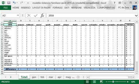 gestione spese casa excel excel avanzato 2013 modello bilancio familiare parte 1