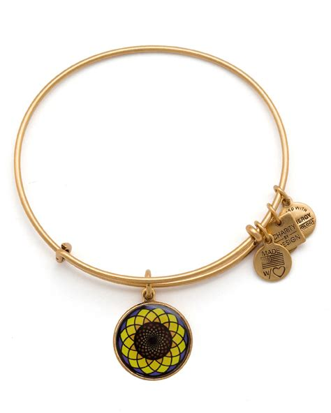 alex and ani alex and ani sunflower expandable wire bangle charity by