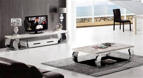 Tv Cabinet And Coffee Table Set Aliexpress Buy Stainless Steel And Marble Furniture Set Coffee Table And Tv Cabinet