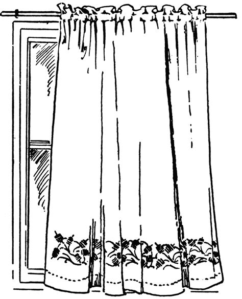 window with curtains clipart curtain clipart etc