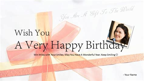 greeting card template powerpoint free happy birthday powerpoint template card free