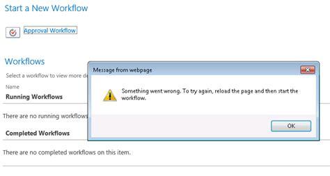 sharepoint restart workflow sharepoint 2013 workflow something went wrong